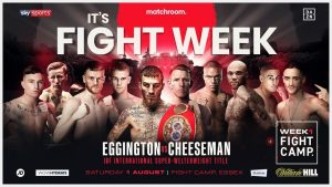 Fight Camp Week 1 (Aug 1) Fight Card Weights UK | boxen247.com