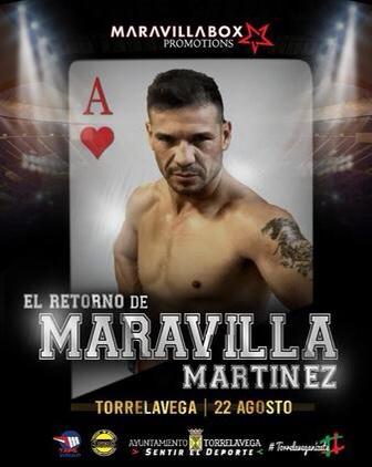 "Sergio ""Maravilla"" Martinez Returns August 21st boxen247.com"