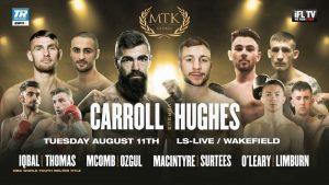 Hughes Shocks Carrol - Results From Wakefield, UK - boxen247.com