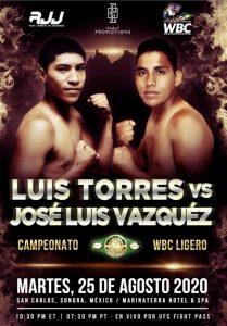 Luis Torres vs Jose Luis Vasquez Fight Card Weights (Mexico) boxen247.com