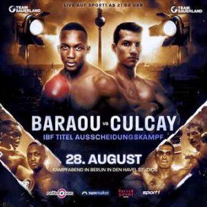 Jack Culcay (29-4, 13 KO's) W PTS 12 Abass Baraou (9-1, 6 KO's). boxen247.com