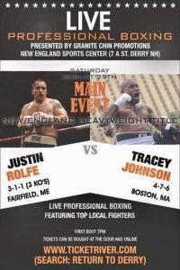 Justin Rolfe Beats Tracey Johnson & Derry (New Hampshire) Results - boxen247.com