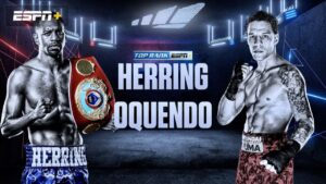Herring vs Oquendo is Won by DQ - boxen247.com