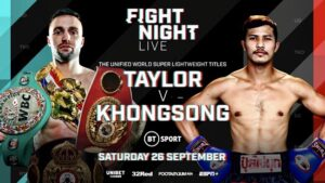 Taylorvs Khongsong FIGHT CARD RESULTS LIVE | boxen247.com