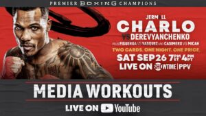 Jermall Charlo Media Workout With Ronnie Shields | boxen247.com