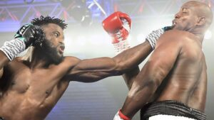 Efe Ajagba (14-0, 11 KO's) W PTS 10 Jonnie Rice (13-6-1, 9 KO's)   boxen247.com