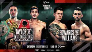 Josh Taylor 139.25 vs Apinun Khongsong 139.5 & Fight Card Weights (London)   boxen247.com