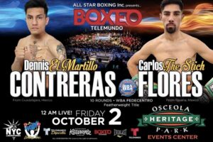 Contreras vs Flores & Fight Card Fighters Make Weight (Florida) | boxen247.com