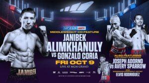 Janibek Alimkhanuly KO's Gonzalo Coria in Las Vegas | boxen247.com
