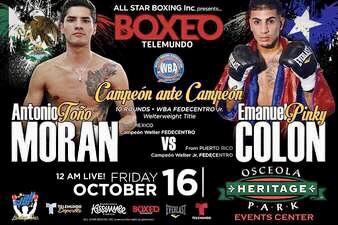 Moran Defeats Colón & Fight Card Results (Florida)   boxen247.com