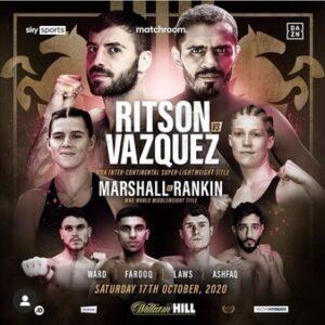 Ritson Split Decisions Vazquez & Fight Card Results | boxen247.com