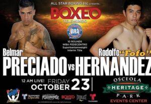 Preciado KO's Hernandez in 19 Secs & Card Results | boxen247.com