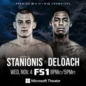 Stanionis vs DeLoach Fight Card Weights Los Angeles | boxen247.com