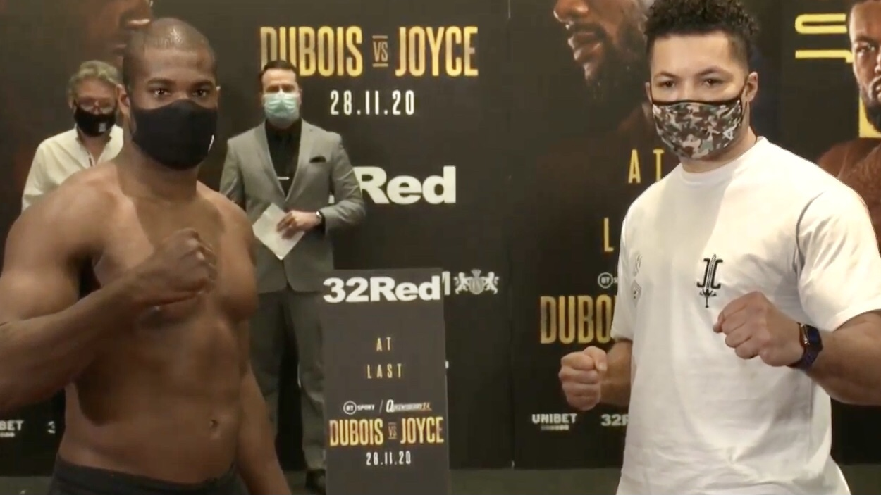 Daniel Dubois vs Joe Joyce Full Fight Card Weights UK | boxen247.com