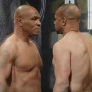 Shot of The Day: Mike Tyson & Roy Jones Jr. Face-Off | boxen247.com