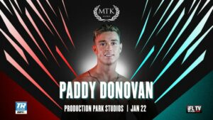 Paddy Donovan Added to Next Months MTK Fight Night Jan 22nd | Boxen247.com