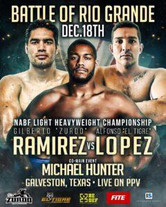 Alfonso Lopez vs Gilberto Ramirez (& Hunter) Fight Card Details Dec 18th| boxen247.com