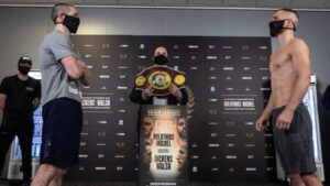 Dickens vs Walsh Fight Card Weights From England   boxen247.com