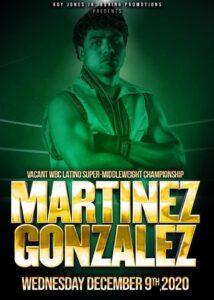 Martinezvs Gonzalez Fight Card Details RJJ Promotion Mexico 9th Dec | boxen247.com