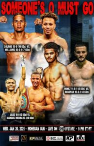 Yeis Solano vs. Mykquan Williams Fight Card Weights From Uncasville | Boxen247.com