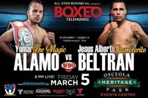 WBO NABO Jr. Welter Title: Alamo-Beltran Kickoff Boxeo Telemundo 2021   Boxen247.com