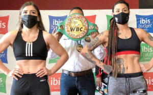 "Yamileth ""Yeimi"" Mercado & Alejandra ""Rocquera"" Guzmán Make Weight   Boxen247.com"