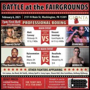 Matt Conway vs. Vincent Jennings Fight Card Weights From Washington | Boxen247.com
