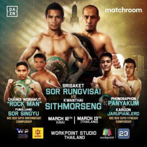Srisaket Sor Rungvisai Returns Against Kwanthai Sithmorseng March 12th | Boxen247.com