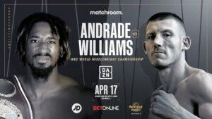 Demetrius Andrade vs. Liam Williams April 17th (WBO Middleweight Title)   Boxen247.com