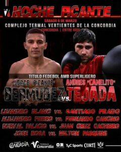Andres Ramon Tejada Defeats Jorge Abel Bermudez & Argentina Results   Boxen247.com