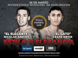 Nicolás Andino vs. Miguel Antín Fight Card Weights From Buenos Aires | Boxen247.com