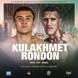 Kazakh Tursynbay Kulakhmet vs. Hever Rondon This Saturday   Boxen247.com