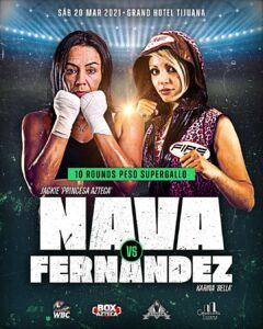 "Jackie ""Princesa Azteca"" Nava vs. Karina ""La Bella"" Fernandez Saturday   Boxen247.com"