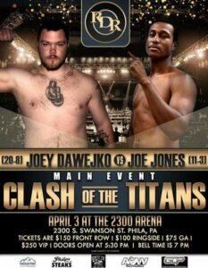 Joey Dawejko vs. Joe Jones Full Fight Card Weights From Philadelphia | Boxen247.com