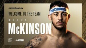 Michael McKinson Signs with Matchroom Boxing | Boxen247.com
