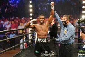 Efetobor Apochi Defeated Deon Nicholson by TKO in WBA Eliminator | Boxen247.com