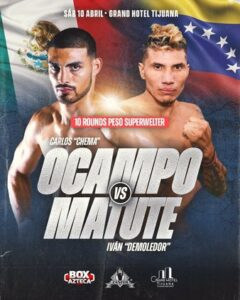 Carlos Ocampo vs. Ivan Matute Fight Card Weights From Mexico | Boxen247.com