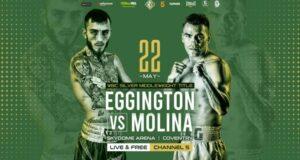 Sam Eggington Clashes With Ex-Champ Carlos Molina May 22nd | Boxen247.com