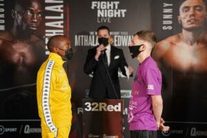 Moruti Mthalane & Sunny Edwards Weigh-In for World Title Bout | Boxen247.com