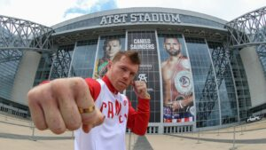 Canelo Visits the AT&T Stadium Ahead of Saturday | Boxen247.com