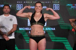 Chantelle Cameron & Melissa Hernandez Weigh In Ahead Of Tomorrow | Boxen247.com