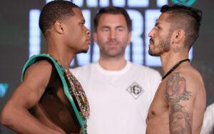 Devin Haney & Jorge Linares Make Weight Ahead Of Tomorrow | Boxen247.com