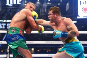 Canelo Defeats Billy Joe Saunders & Full Results From Texas | Boxen247.com
