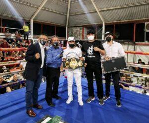 """""""El Gallo"""" Estrada Received Super Championship Belt in Hermosillo   Boxen247.com"""