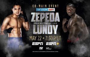 Zepeda vs. Lundy Reinforces Ramirez vs. Taylor May 22 | Boxen247.com