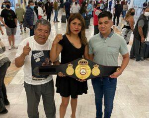 """Dinamita"" Cruz Received Her WBA Belt With Joy And Pride   Boxen247.com"