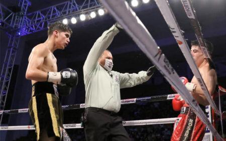 David Cuellar presented with his WBC green & gold belt   Boxen247.com   Boxen247.com