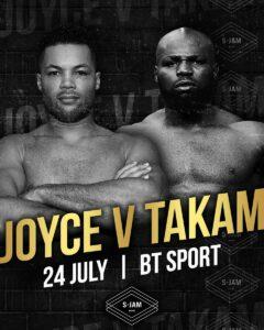 Joe Joyce vs. Carlos Takam in London, England on July 24 | Boxen247.com