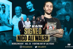 Muhammad Ali's grandson Nico Ali Walsh signs with Top Rank | Boxen247.com (Kristian von Sponneck)