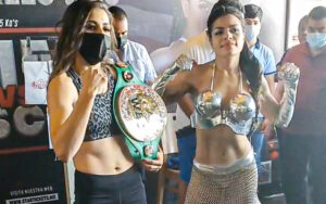 Yamileth Mercado & Angélica Rascón make weight ahead of tomorrow   Boxen247.com (Kristian von Sponneck)